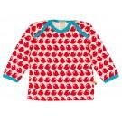 T-shirt met lange mouwen met rode vogeltjes