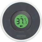 Dark grey digitale badthermometer
