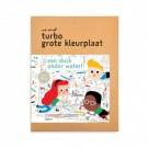 Turbo grote kleurplaat : Een duik onder water