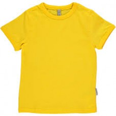 Gele t-shirt korte mouwen - shortsleeve basic yellow