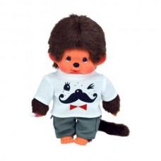 Monchichi jongen met snorren t-shirt (20cm)
