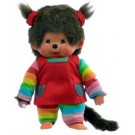 Monchhichi-pop meisje regenboogkleding- 20cm (klein formaat)