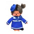 Monchhichi-pop meisje stewardess- 20cm (klein formaat)