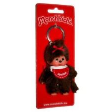 Sleutelhanger Monchhichi - meisje met rode slab