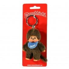 Sleutelhanger Monchhichi - jongen met blauwe slab