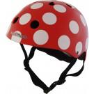 Helm rood met witte stippen: medium