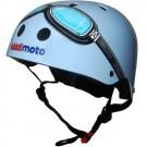 Lichtblauwe helm met bril: XXS