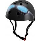 Zwarte helm met bril: small