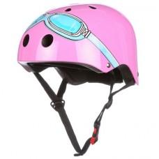 Roze helm met bril: small