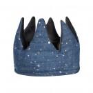 Omkeerbare blauwe kroon - Super soft velvet crown grey