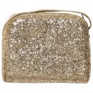 Gouden glitter handtas - Gold glitter cross body bag