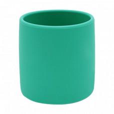 Appelblauwzeegroene siliconen drinkbeker