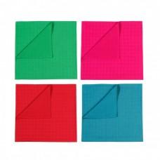 Set van 4 gekleurde tetradoeken