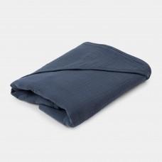 Blauwgrijze XL-badcape - Bathcape thunder