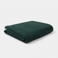 Donkergroen gebreid wiegdeken - Blanket knitwear emerald