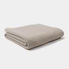 Beige gebreid wiegdeken - Blanket knitwear fog