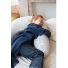 Borstvoedingskussenhoes met donkerblauwe strepen - Nursing pillow cover la linea thunder