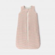 Slaapzak met rode strepen - Sleeping bag warm interlock la linea clay