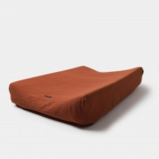 Bruinrode waskussenhoes - Changing pad cover clay