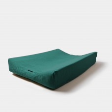 Donkergroene waskussenhoes - Changing pad cover emerald