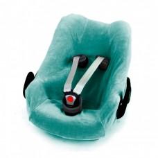 Jade velourse overtrek voor autostoel