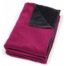Velours duodeken wieg roze-grijs