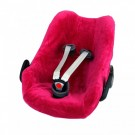 Frambooskleurige velourse overtrek voor autostoel