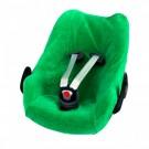 Groene velourse overtrek voor autostoel