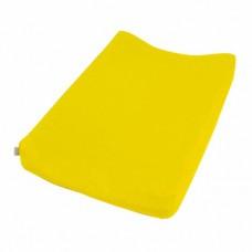 Gele velourse overtrek voor waskussen