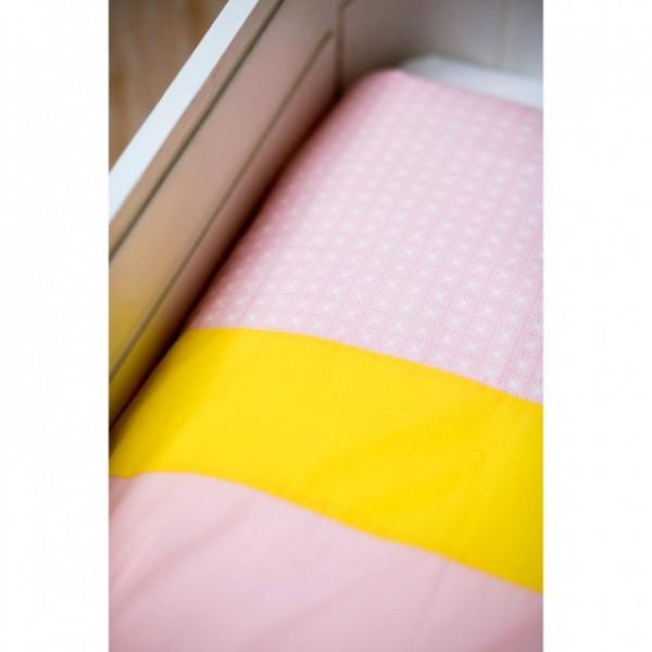992aba86f35ddf ... Dekbedovertrek ledikant Lis- roze/ geel. Merk: Mundo melocotón