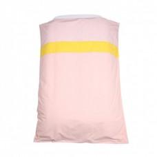 Dekbedovertrek ledikant Lis- roze/ geel