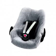 Grijs mêlee velourse overtrek voor autostoel