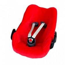 Rode velourse overtrek voor autostoel