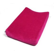 Frambooskleurige velourse overtrek voor waskussen