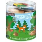Stempelset hout- de bosdieren  (Geboortelijst ...)