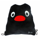 Zwarte velours turnzak Pingu - Drawnstring bag Pingu