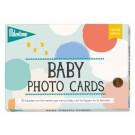 Milestone grafische Baby foto Cards - Nederlandstalige versie (Geboortelijst Lou V.)