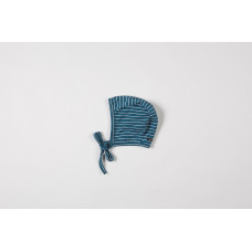 Baby bonnet organic interlock seaqual la linea teal