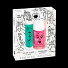 Setje met lipgloss en nagellak - new york
