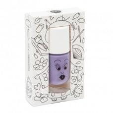 Paarse afwasbare nagellak met fijne glitters - Kanako