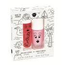 Setje met lipgloss en nagellak - holidays
