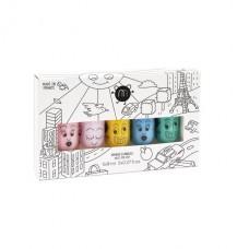 Set van 5 afwasbare nagellakjes : City