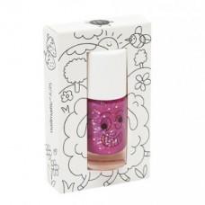 Paarse afwasbare nagellak met glitters - sheepy