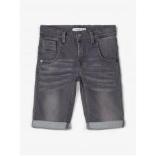 Grijze jeansshort - Nkmtheo dnmclas long shorts medium grey denim (**)