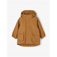 Cognacbruine regenjas - Nmmmargo jacket rubber