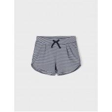 Donkerblauwe gestreepte short - Nkfjosephine shorts bright white