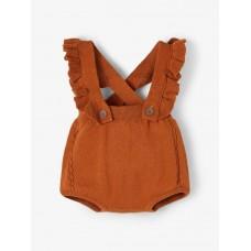 Roestbruin bloomerpakje - Nbfisa knit bloomers glazed ginger ginger/melange