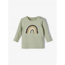 Muntgroen t-shirt met regenboog - Nbmdaform desert sage