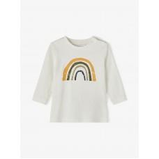 Ecru t-shirt met regenboog - Nbmdaform snow white