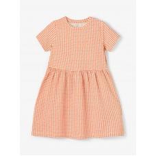 Oranje kleedje met ruitjes - Nmfdamar persimmon